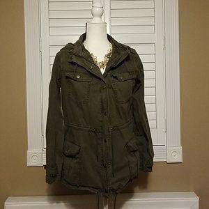 Blanc Noir green anorak hooded jacket medium